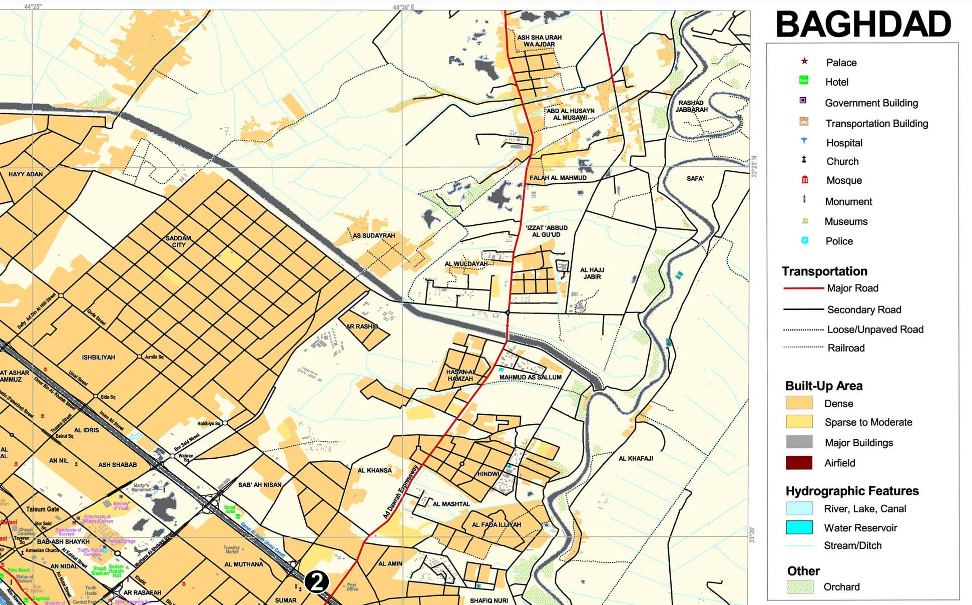return to main baghdad map